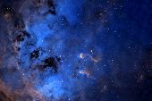 Beautiful Blue Distant Galaxy. Background Texture. Elements Of This Image Were Furnished By Nasa. poster