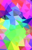 Colorful Gradient Mosaic Background. Geometric Triangle, Mosaic, Abstract Background. Mosaic, Color poster