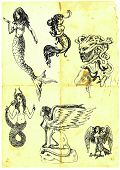 picture of breast-stroke  - Series of mystical women - JPG