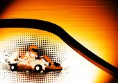 image of karts  - Abstract grunge color Gocart background with space - JPG