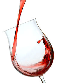 image of red wine  - red wine being poured into a wine glass - JPG
