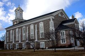 stock photo of tabernacle  - Logan Tabernacle historic building in Utah - JPG