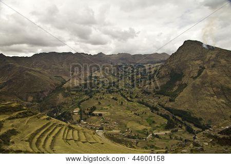 Terrazas de Pisac en el Cusco