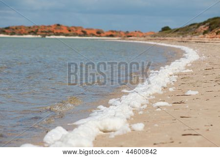 Beach With White Foam Stripe