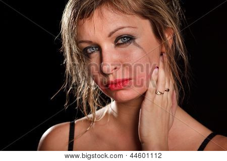 Depressed Woman Portrait