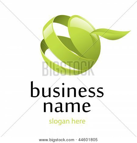 Logotipo de vetor verde maçã