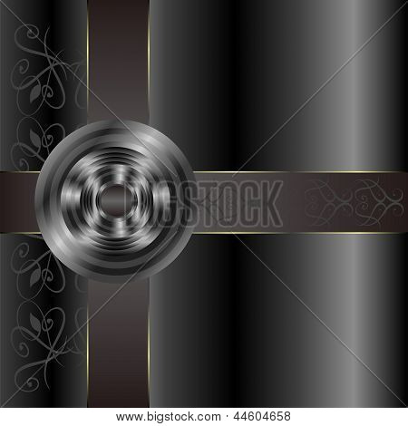 Golden Vintage Ornament With Seamless Background, art illustration