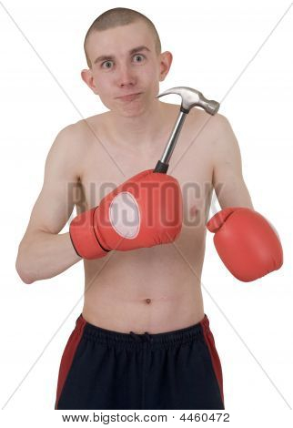 The Thin Boxer In Gloves