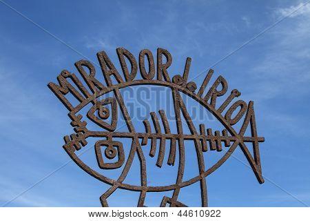 Mirador Del Rio Sign On Lanzarote