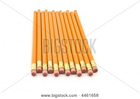 Pencils Isolated On A White Background