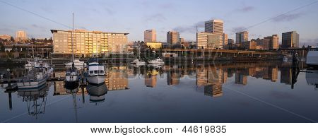 Buildings Viaduct Infrastructure Thea Foss Waterway Tacoma Washington Northwest Usa