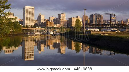 Buildings Viaduct Infrastructure Thea Foss Waterway Tacoma Washington Northwest Usa