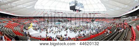 Vancouver Sun Run Festivities inside BC Place