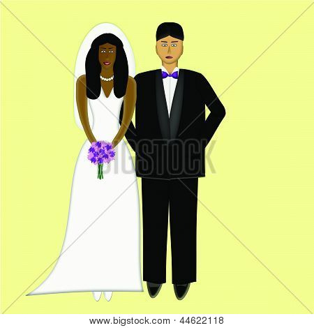 African Bride With Caucasian Groom