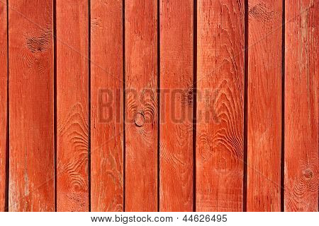 Old Wooden Red Fence