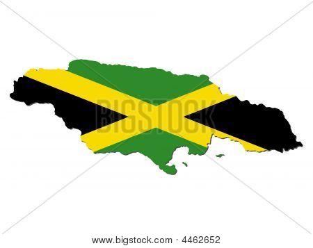 Map Flag Of Jamaica