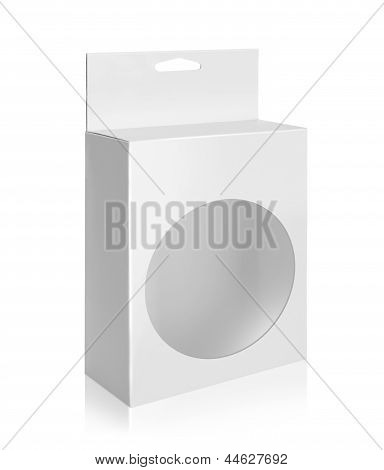 White Product Package Box With Circle Window