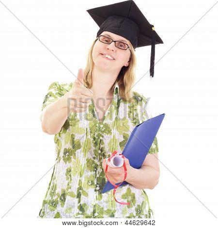 Happy Female Graduate