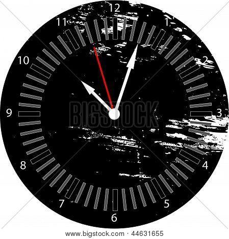 Grunge clock