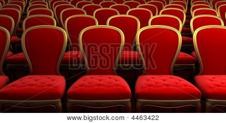 Concert Hall With Red Seat