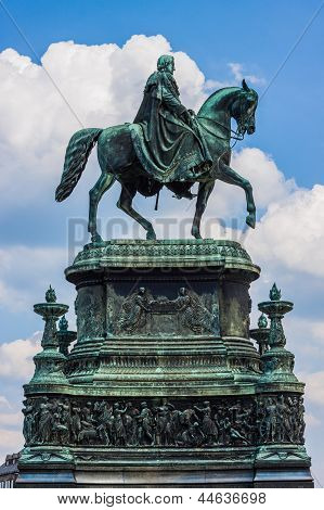Equestrian Statue Of King John Of Saxony  In Dresden, Germany
