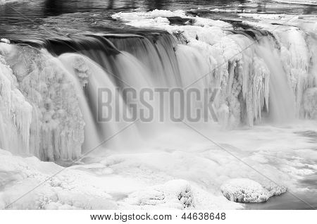Frozen Waterfall Called Keila Juga In Estonia