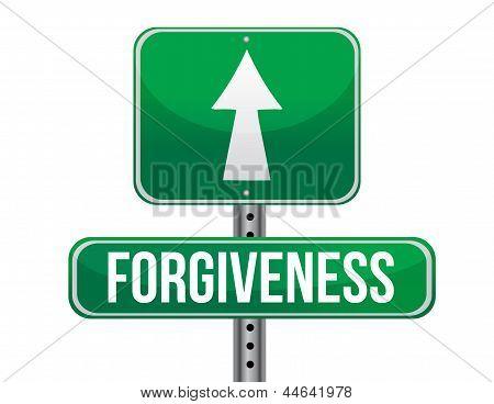 Forgiveness Road Sign Illustration Design