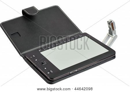 electronic book with an illumination lamp