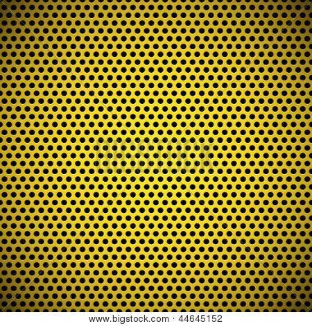 Yellow Seamless Circle Perforated Grill Texture