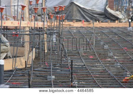 Rebar On The Construction Site