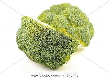 Fresh Broccoli On A White Background
