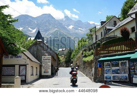 Mountain Village Gavarnie In The Pyrenees