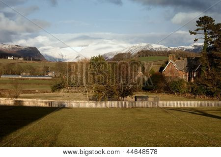 Snow On The Mountains In Cumbria