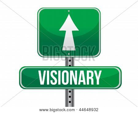 Visionary Road Sign Illustration Design