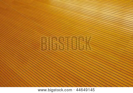 Rows Of Golden Tightly Fitted Wooden Slats