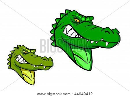 Green wild alligator