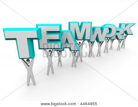 Team Lifting The Word Teamwork