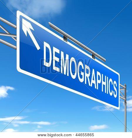 Concepto de demografía.