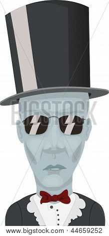 man in a hat and glasses