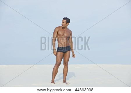Man standing on the beach
