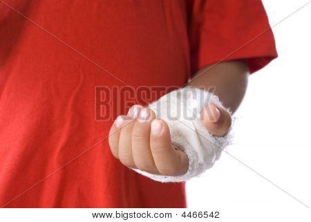 Hand verletzt