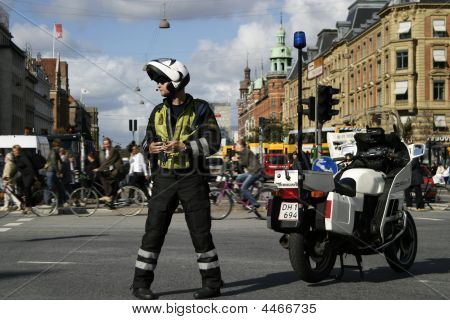 Danish Motorcycle Cop