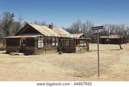 A Fairbank, Arizona, Ghost Town Railroad Ave. Shot