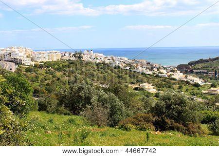 Hillside Town Of Albufeira, Algarve, Portugal