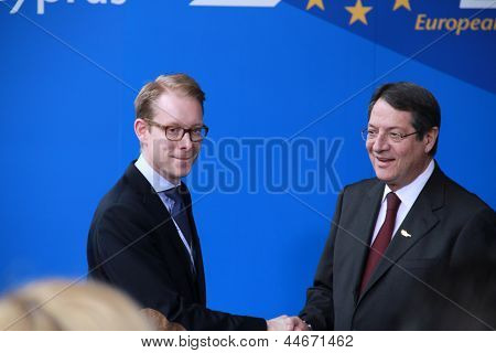 Tobias Billstrom and Nicos Anastasiades