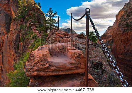Angel Landing Trail in Zion National Park,Utah