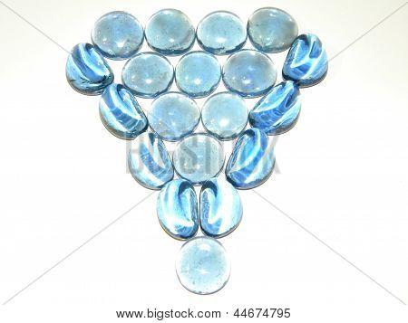 blue glass triangle