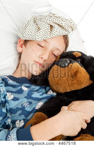 Sleeping Child With Cold