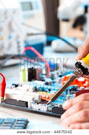 Repaired By Soldering A Pc Board