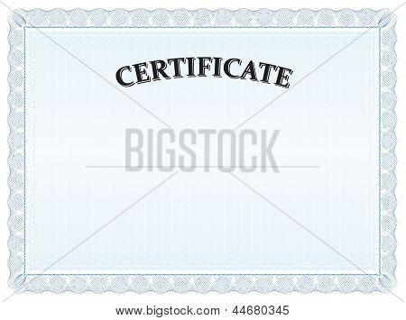 Certificat Modern Blue Landscape